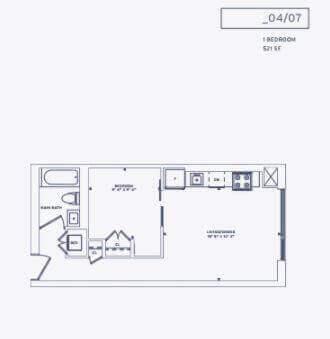Fl0or Plan of Suite Plan 4 of 357 King West.