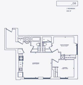357 King West Floor Plan for Suite 8