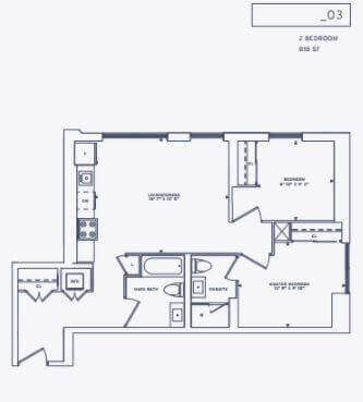 357 King West Floor Plan for Suite 3