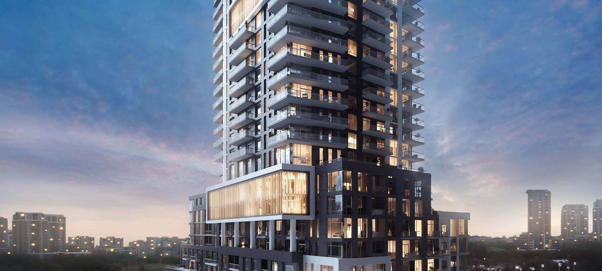 Markham Square Condo Exterior Sunset View