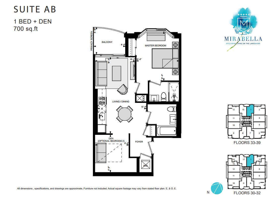 Mirabella Suite AB Floor Plan