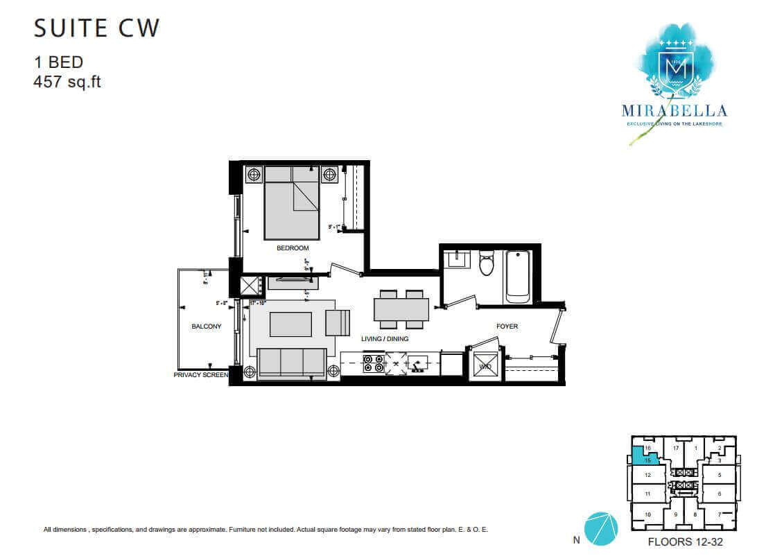 Mirabella Suite CW Floor Plan