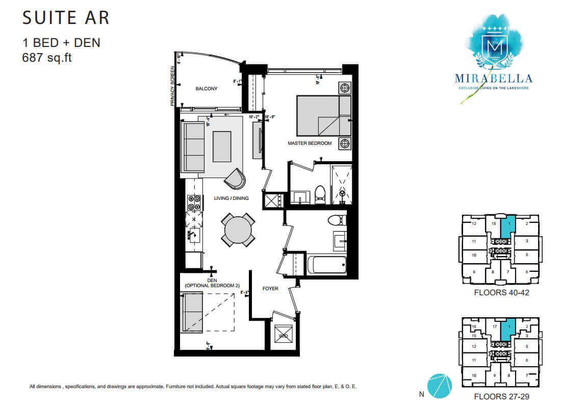 Mirabella Suite AR Floor Plan