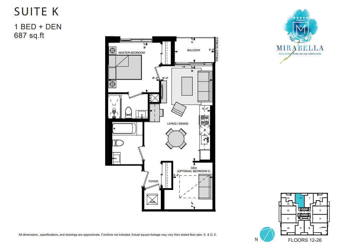 Mirabella Suite K Floor Plan
