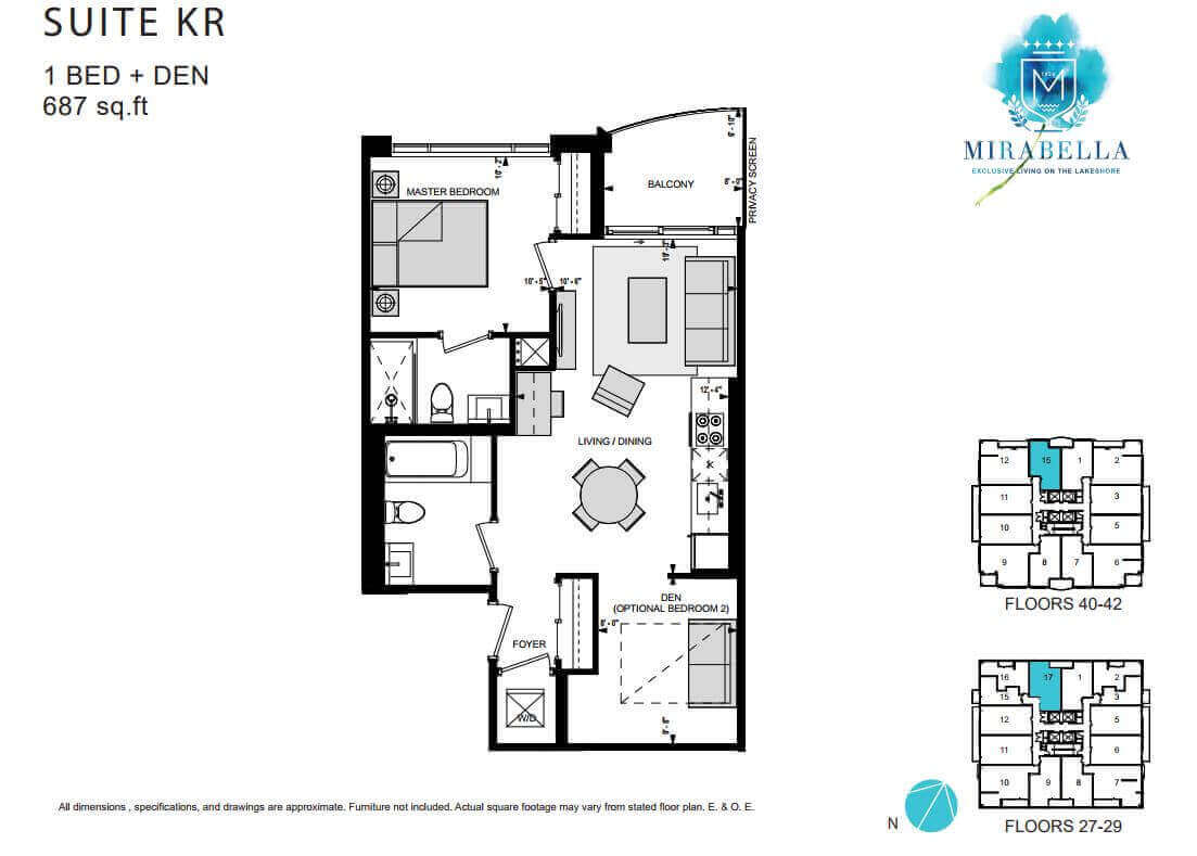 Mirabella Suite KR Floor Plan