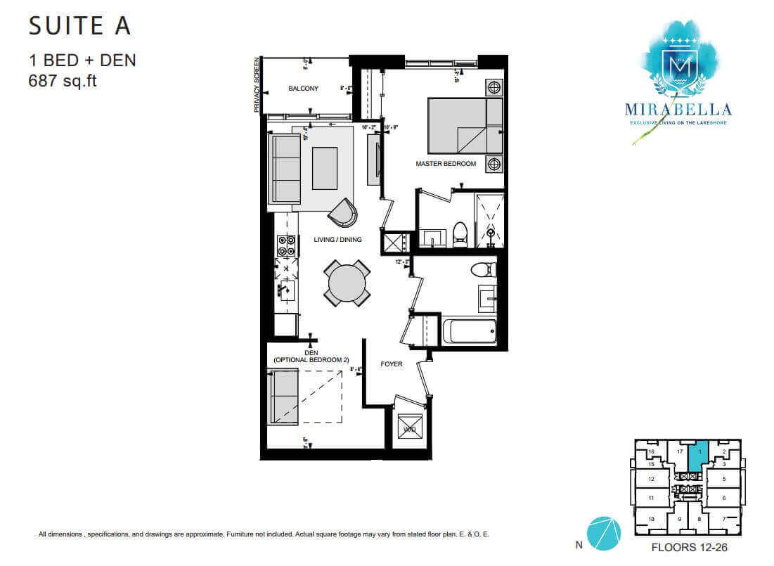 Mirabella Suite A Floor Plan