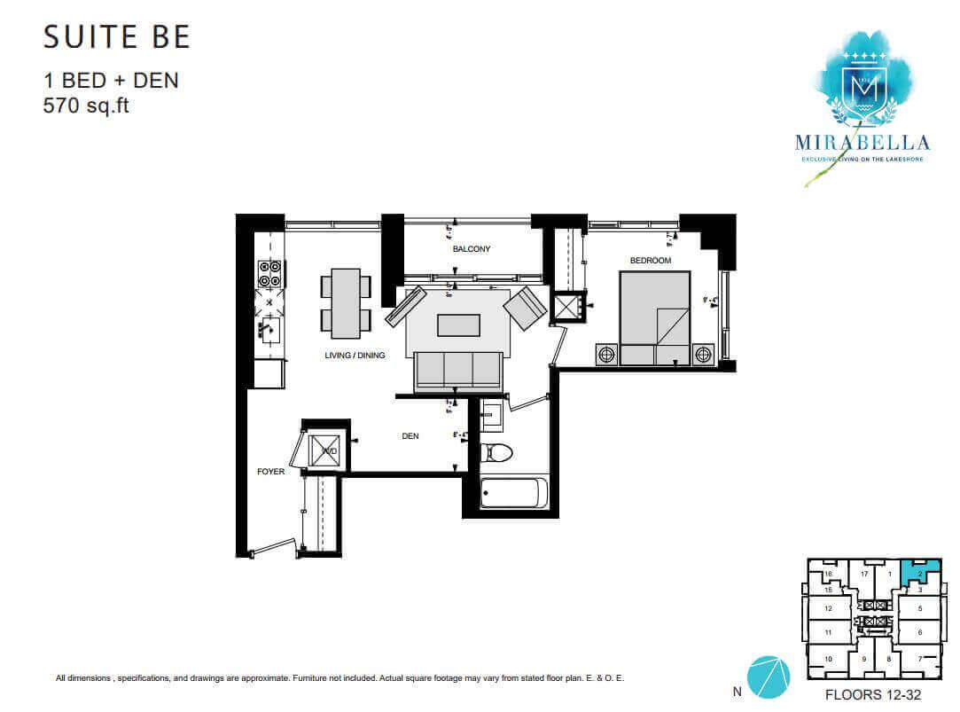 Mirabella Suite BE Floor Plan