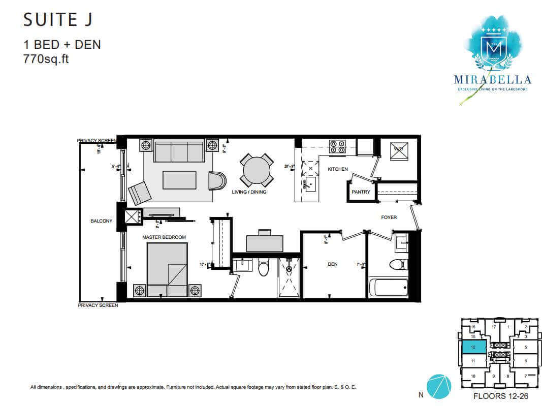 Mirabella Suite J Floor Plan