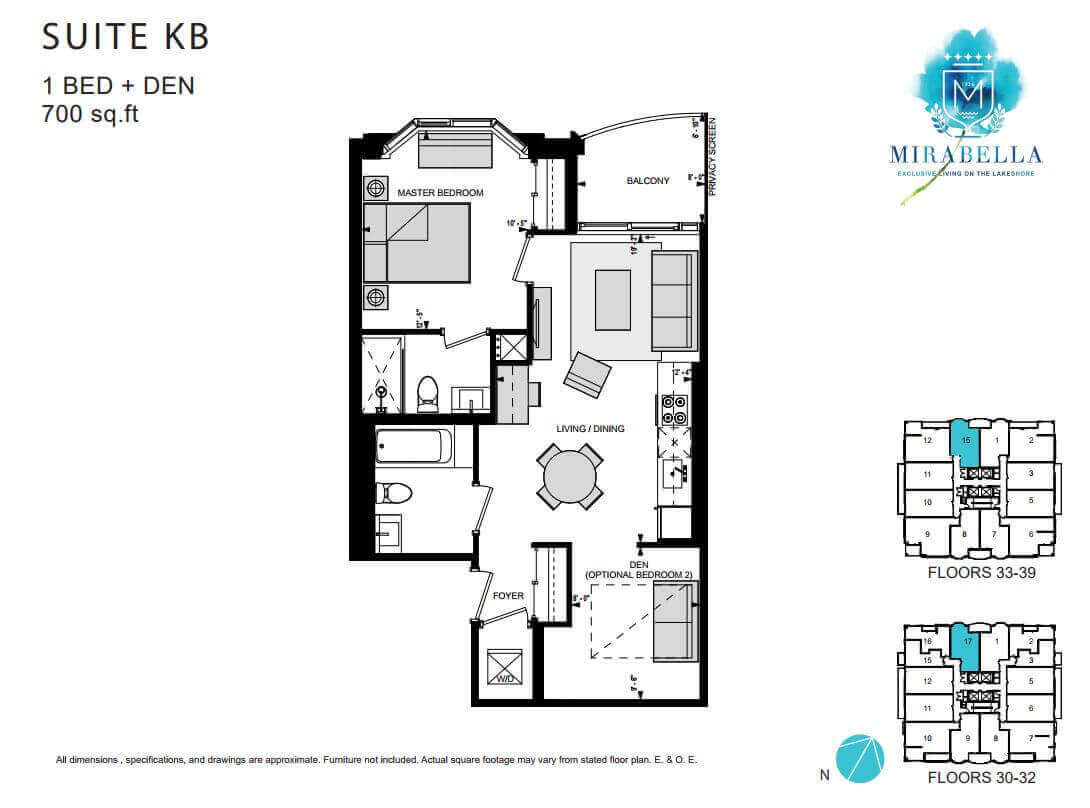 Mirabella Suite KB Floor Plan