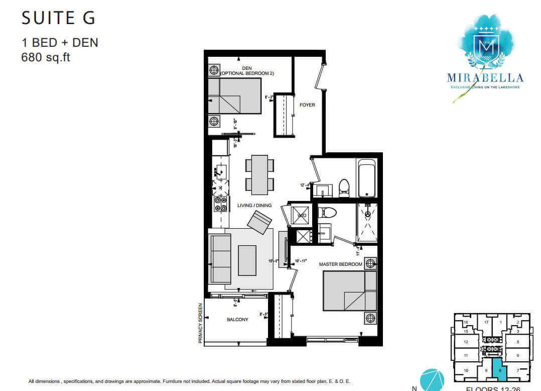 Mirabella Suite G Floor Plan
