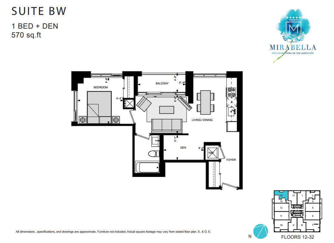 Mirabella Suite BW Floor Plan