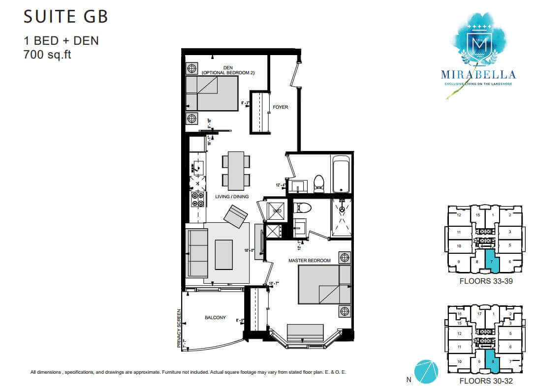 Mirabella Suite GB Floor Plan