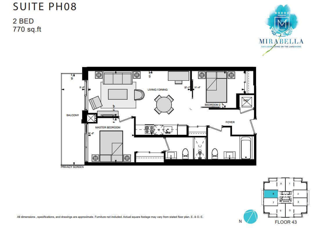 Mirabella Suite PH8 Floor Plan
