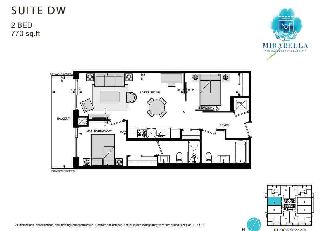 Mirabella Suite DW Floor Plan