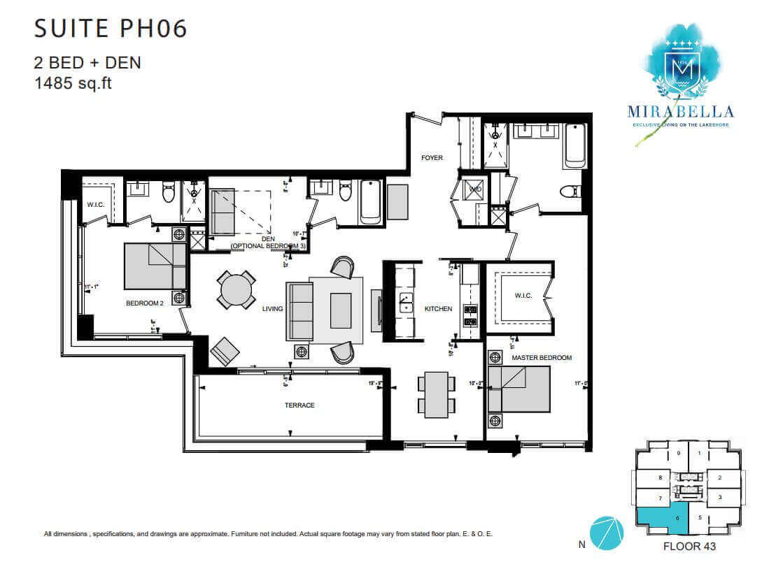 Mirabella PH6 floor Plan