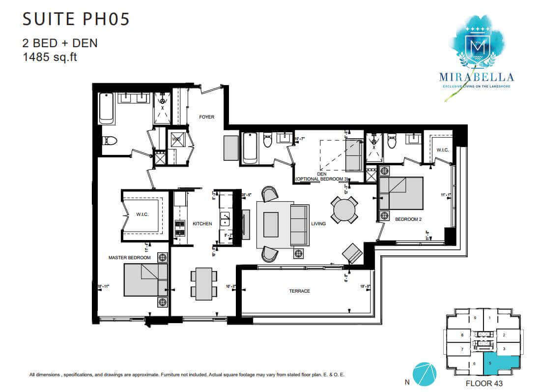 Mirabella Suite PH5 Floor Plan