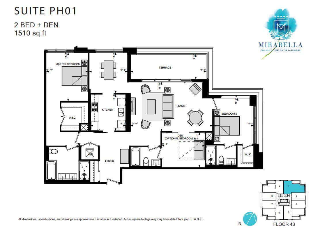Mirabella Suite PH1 Floor Plan