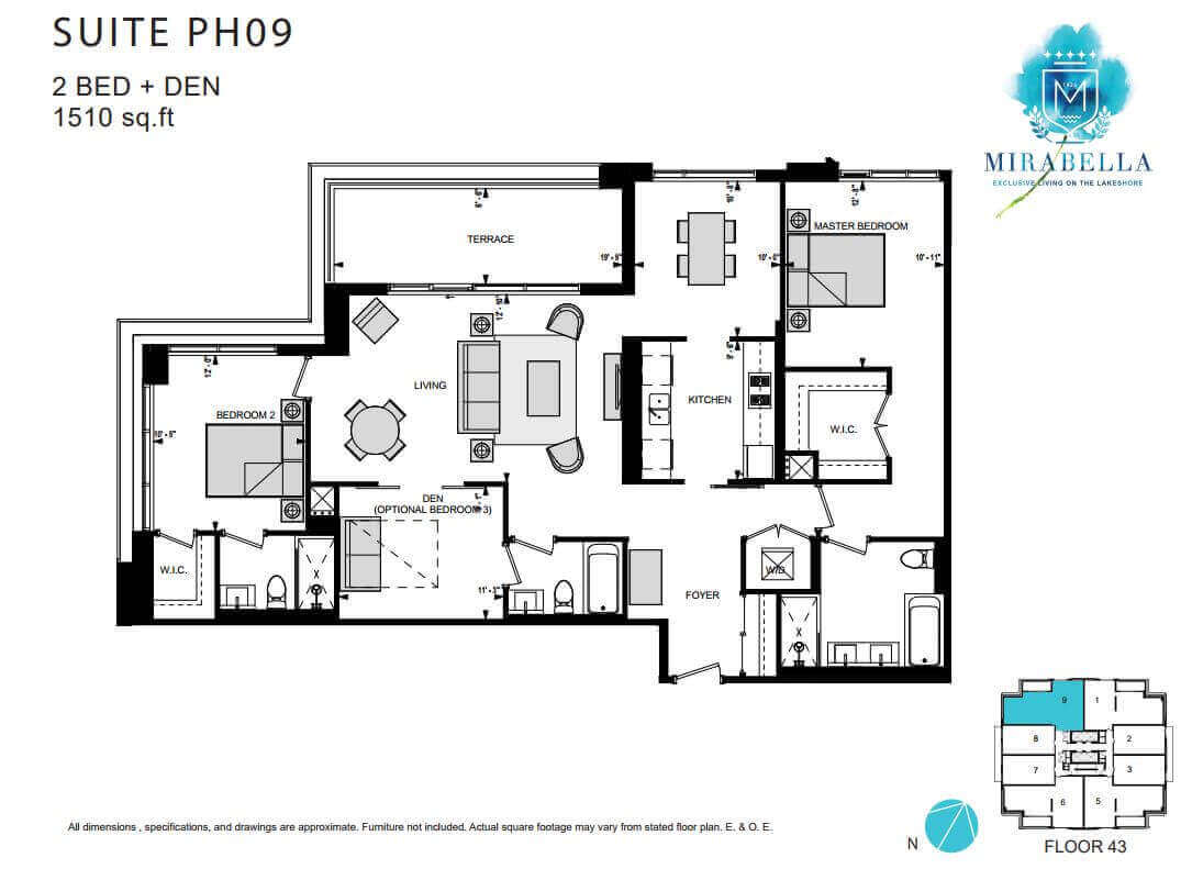 Mirabella Suite PH9 Floor Plan