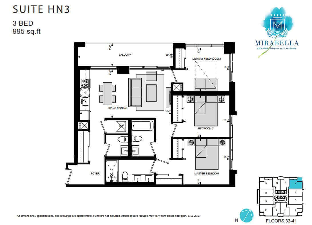 Mirabella Suite HN3 Floor Plan