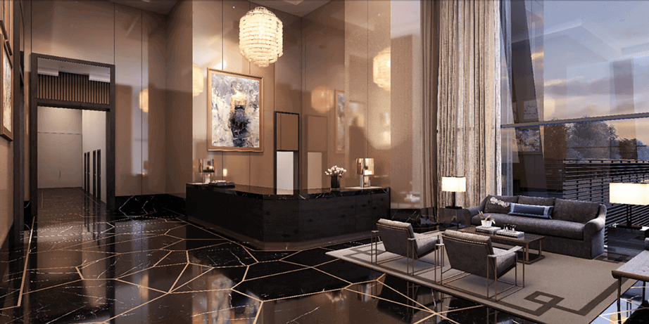 The One Condos Lobby Rendering