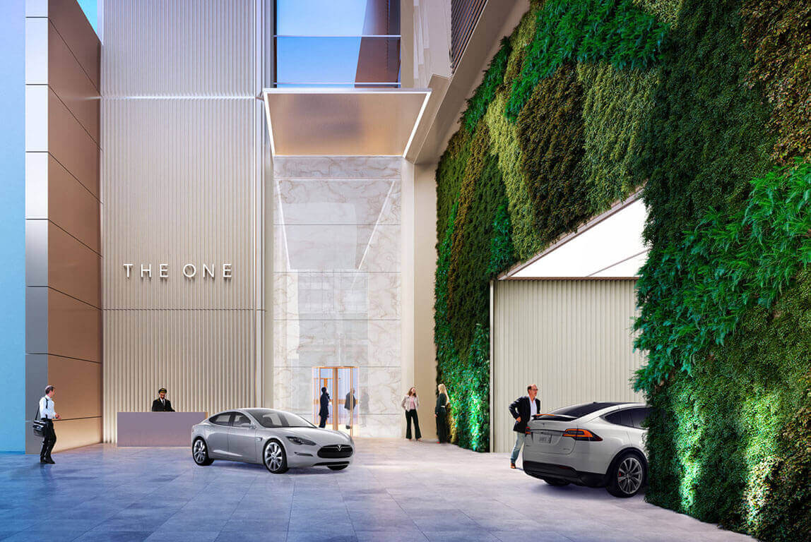 The One Condos Parking Valet Rendering