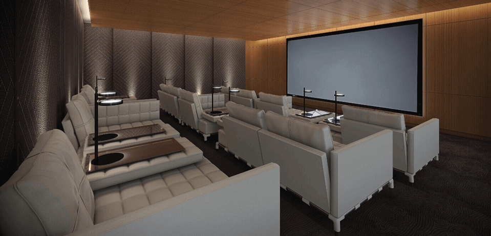 Playground Condos Theatre Movie Room