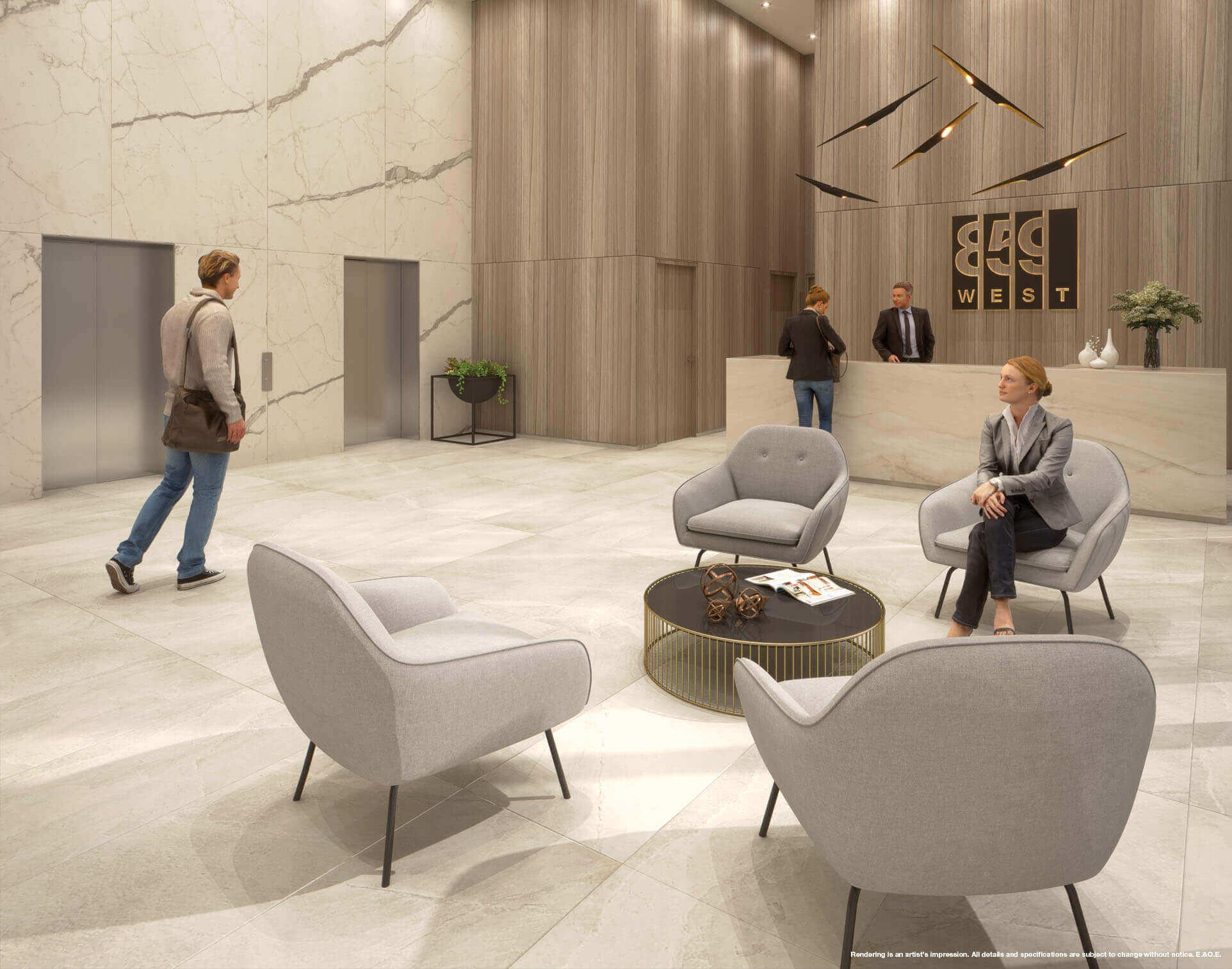 859 West Lobby Rendering